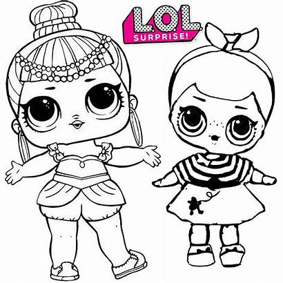 Lol Coloring Surprise Pages Doll Sheet Children