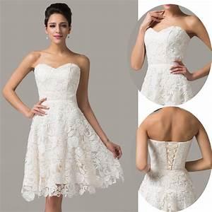 Spitze Kurz Ballkleider Partei Brautkleid Abendkleid