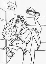 Tangled Coloring Pages Gothel Mother Rapunzel Printable Pascal Flynn Maximus Filminspector Getcolorings sketch template