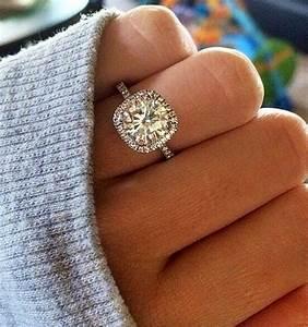 20 brilliant cushion cut wedding engagement rings With cushion cut halo engagement ring with wedding band