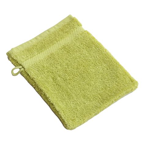 gant de toilette ou fleur de gant de toilette coton bio vert anis 233 acheter sur greenweez
