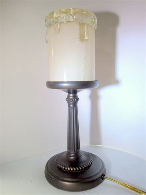night light electric candle l 12 inches tall brass