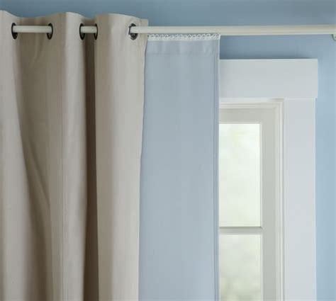 blackout curtain liner blackout drape liner pottery barn