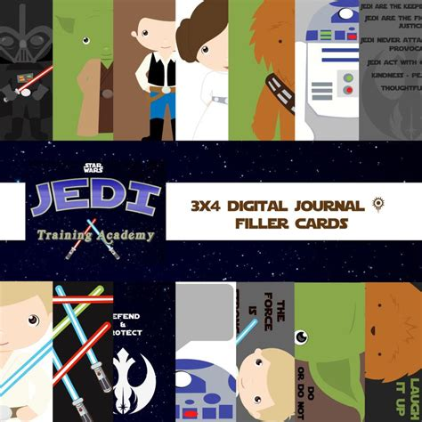 Your session is about to expire. Star Wars Jedi Academy Digital Journal Cards Filler Cards | Etsy