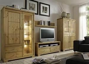 Massivholz TV Lowboard 120cm TV Mbel Kiefer Natur