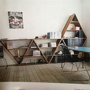 Etagere Murale Triangle : wooden triangle shelves for your modern and contemporary interiors ~ Teatrodelosmanantiales.com Idées de Décoration