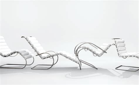 chaise mies der rohe mr lounge chair hivemodern com