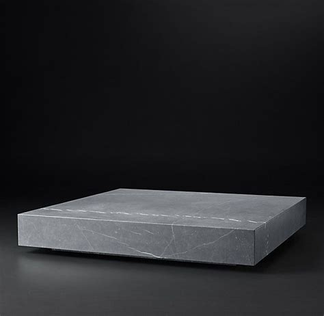 Browse furniture, lighting, bedding, rugs, drapery and décor. RH's Low Marble Plinth Square Coffee Table:American and Italian design of the 1970s informs our ...