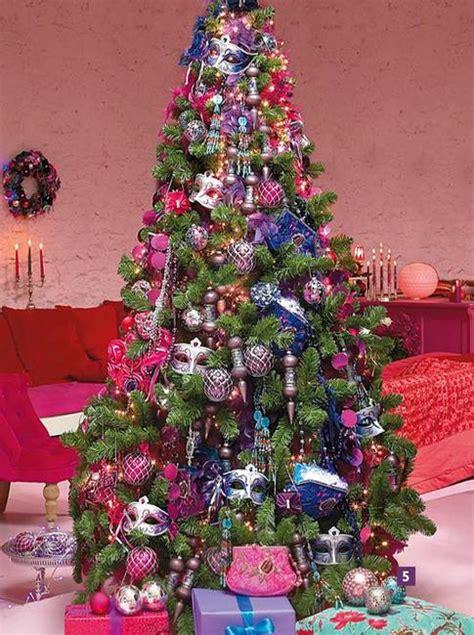 christmas tree decoration blending purple  pink colors