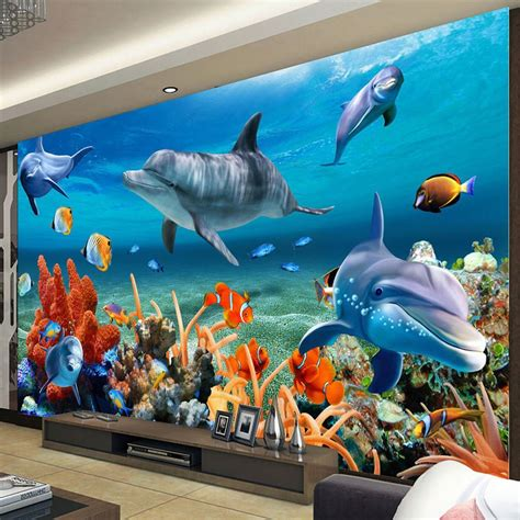 beibehang custom  mural wallpaper  kid underwater
