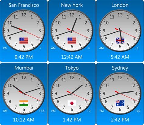 amazing world clock