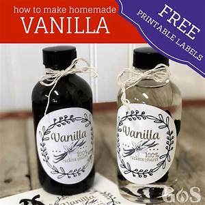 how to make vanilla extract recipe from scratch with With how to make homemade labels