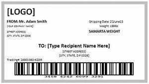 free shipping label template formal word templates With create postage label