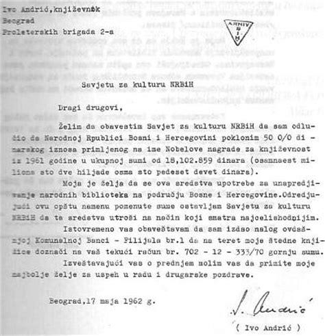 O PriČi I PriČanju Evo što Je Ivo Andrić Rekao Primajući Nobelovu Nagradu Za Književnost
