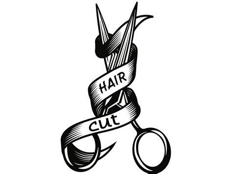 hairstylist logo  scissors salon barber shop haircut hair