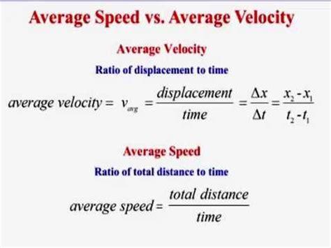 problems  average speed  average velocity