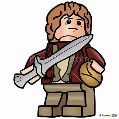 Lego Hobbit Draw Bilbo Step