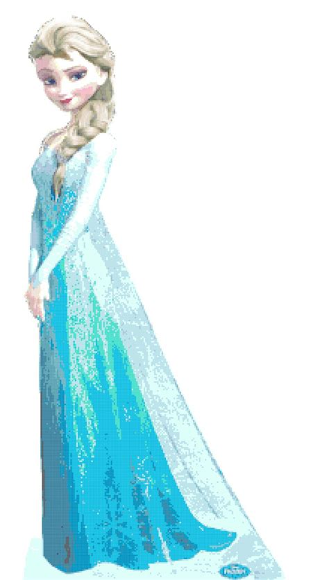 princess elsa pose    cross stitch