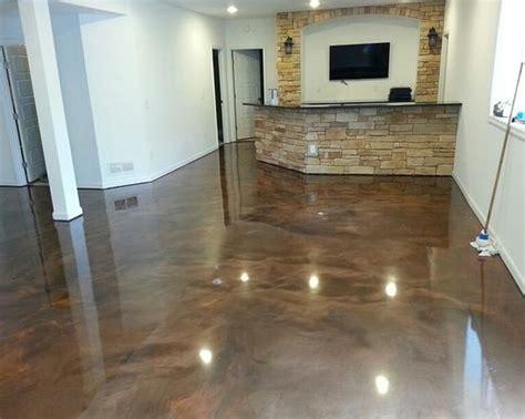 Wonderful Epoxy Basement Floor Home Ideas Collection