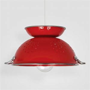 nicola red colander pendant by maura daniel With colander pendant light