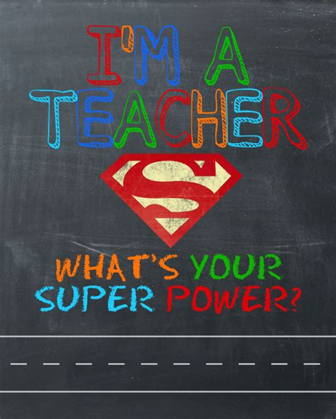 What's Your Super Power?  Teacher Gift & Free Printable Happygolucky