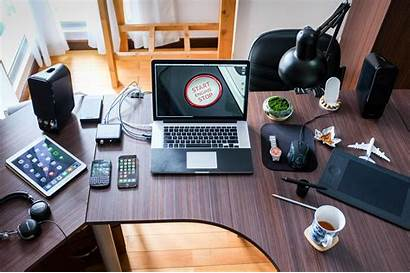 Working Remotely Office Things Remote Desk Electronics