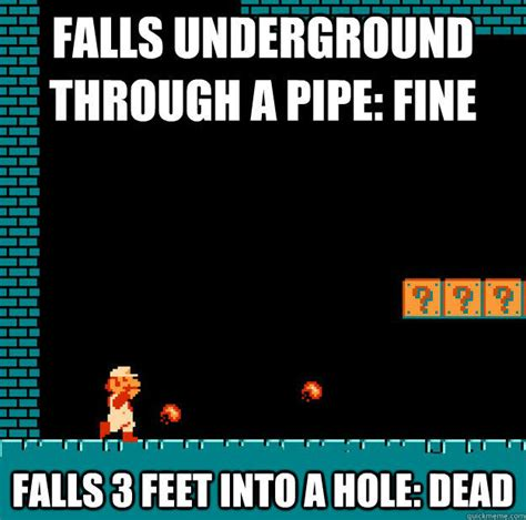 Game Logic Meme - holes how do they work video game logic know your meme