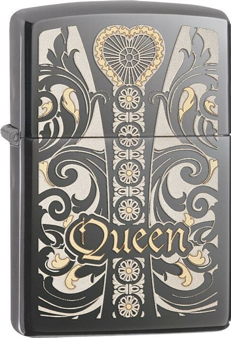 Zippo Choice Queen Venetian Laser Engrave Black Ice