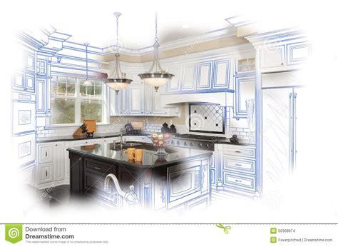 etude de cuisine combinaison faite sur commande de dessin et de photo