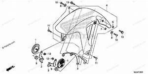 Honda Motorcycle 2014 Oem Parts Diagram For Front Fender