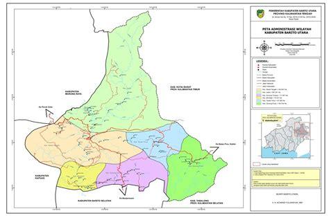 peta kota peta kabupaten barito utara