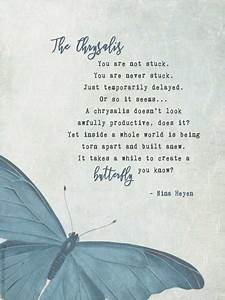Download Calendar Inspirational Poem Quot The Chrysalis Quot Printable Poetry Card