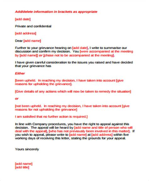 grievance letter template 18 response letter template free sle exle format free premium templates