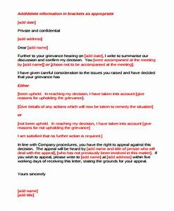 14 response letter template free sample example format for Template for grievance letter