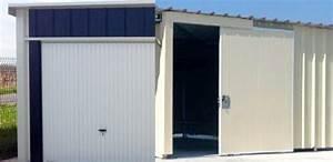 garages metalliques simple double avec auvent a vous With porte de garage coulissante jumelé avec tordjman metal