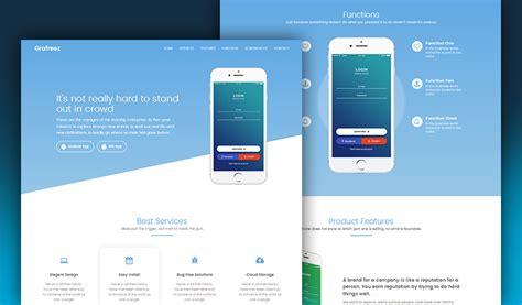 home design free app manjhi mobile landing page template in bootstrap grafreez
