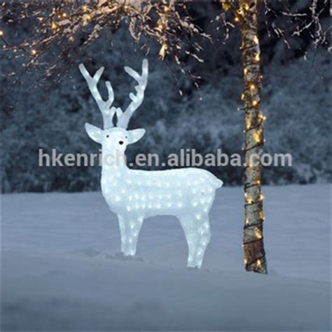 christmas 120cm led light up acrylic reindeer outdoor