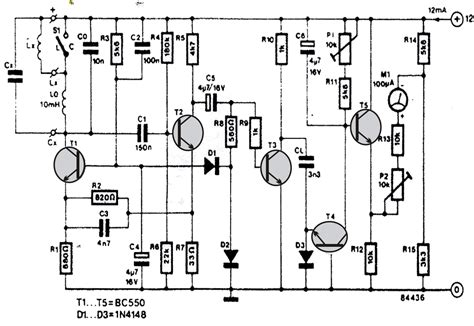 inductance meter circuit inductance meter circuit electronic circuit projects