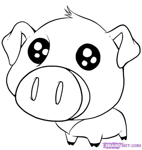 cute pigs coloring pages getcoloringpagescom
