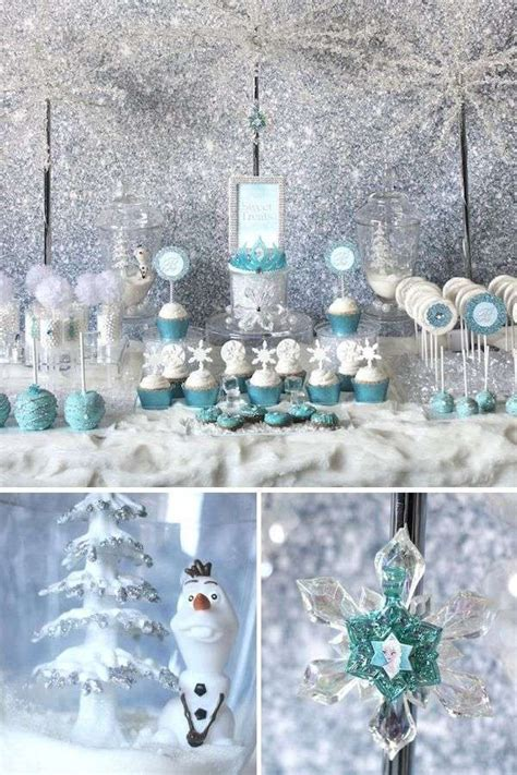 winter wonderland decor kids christmas party theme frozen