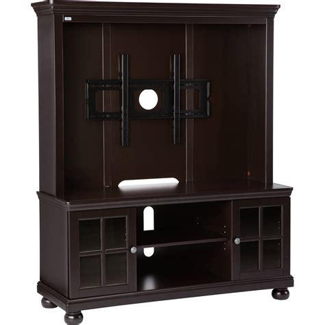entertainment center 52 quot flat screen tv stand with hutch