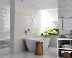 decoration salle de bain mur exemples d39amenagements With deco murale salle de bain