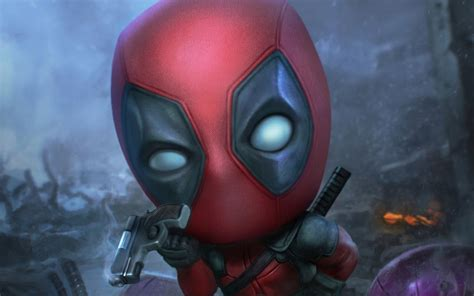 Desktop Wallpaper Deadpool, Funny Face, Fan Art, Hd Image