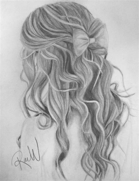 Girl Hair Drawing Curly Hair Drawing Pencil Art Drawing