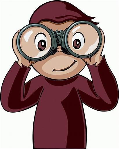 Curious Binoculars George Clipart Google Cartoon Binocular