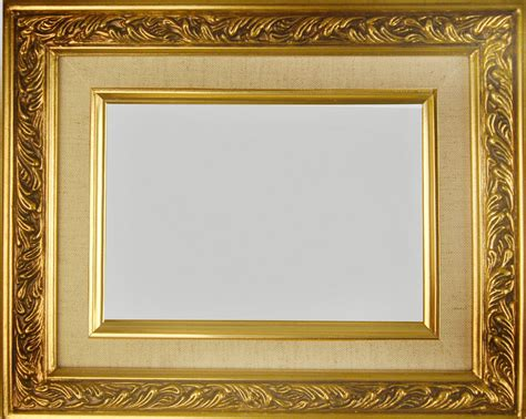 gold picture frames picture frame wood gold linen fancy swirl photo 2 25