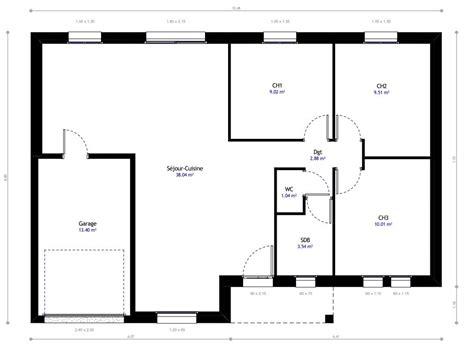 plan maison plain pied 100m2 3 chambres plan de maison 100m2 3 chambres plan au sol plan de