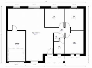plan maison individuelle 3 chambres 09 habitat concept With wonderful modele de plan maison 0 maison plain pied garage double