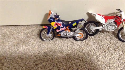toys r us motocross bikes a small review of some of my dirt bike toys youtube
