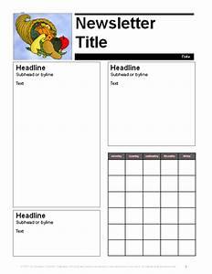 november parent newsletter template education world With free november newsletter templates